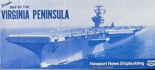 Dolph's Map of the Virginia Peninsula 1992 Newport News Shipbuilding Tenneco New