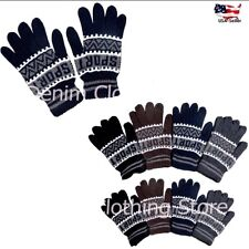 120 Pairs Men's Women Stretchy Magic Knit Warm Winter Gloves Snow Wholesale Lot