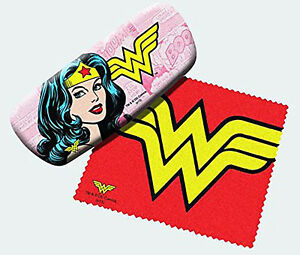 Spoontiques Padded Wonder Woman Eye Glass Case with Matching Lens Cloth