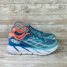 Hoka One One Clifton 3 Womens Size 6.5 Blue Athletic Gym Training Running Shoes