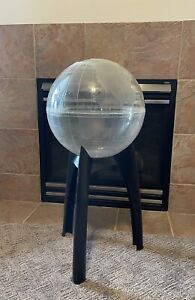 "Mid Century Modern Space Age Atomic 33"" World Globe Terrarium Aquarium Planter"