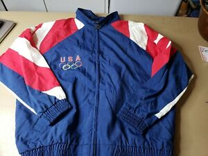 Vintage Team USA Starter Windbreaker Jacket Size Large 90s Olympics Eagle