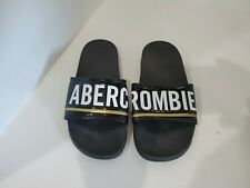 Abercrombie womens Black Slide Sandals Size 7 M