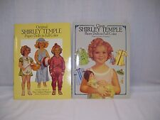 2 Vintage Shirley Temple Paper Dolls and Dresses Books Uncut New Classic