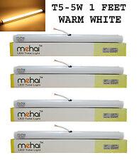 4 Pcs Mehai T5-5W Slim Led Tube Light 1 Feet(300MM) For Warm White Home &Office