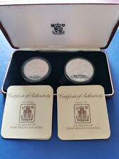 1976 MALAYSIA Silver Coin Proof Set 15 & 25 Ringgit Wildlife in Original Box+COA