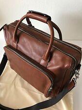 Fossil Men's Cognac Brown Leather Carson Travel Bag Carryon Overnite MBG9231222
