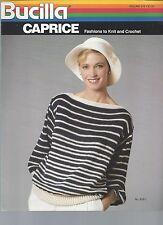 Set of 7 Bucilla Knitting Patterns  - Women's Sweater Patterns