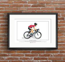 Mark Cavendish-Giro d'Italia 2013-édition limitée FINE ART PRINT A3 TAILLE