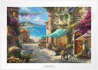 Thomas Kinkade Studios Italian Cafe 12 x 18 Limited Edition S/N Paper