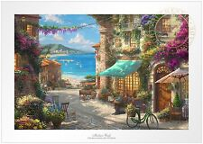 Thomas Kinkade Studios Italian Cafe 18x27 Standard Number Limited Edition Paper