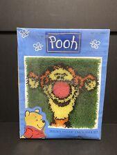 "Caron Pooh Tigger Cheer 13x13"" Latch Hook Kit, Made in Usa, Sealed"