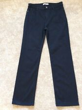 Marks And Spencer Per Una Black Straight Leg Stretch Jeans Size 12 Short