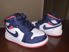 Toddler Nike Jordan 1 Mid Basketball Shoes 'Olympic' - Size 5C
