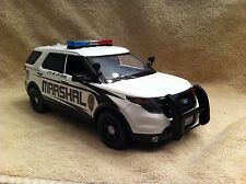 1/18 SCALE LAS VEGAS MARSHAL FD SUV UT  DIECAST WITH WORKING LIGHTS AND SIREN