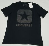 Women's Converse  Classic fit  T-Shirt  black glitter logo