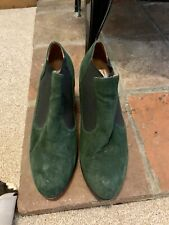 JEFFERY CAMPBELL Handmade Ibiza Suede Green Heeled Boots Shoes UK 6 US 8.5