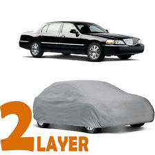 TRUE 2 LAYERS GRAY FITTED CAR COVER OUTDOOR WATER RESISTANT for LINCOLN TOWN CAR