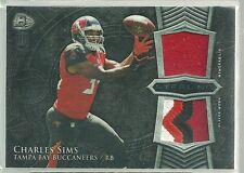 (2) CHARLES SIMS RC LOT DUAL 4 COL PATCH + BASE RC 2014 BOWMAN STERLING