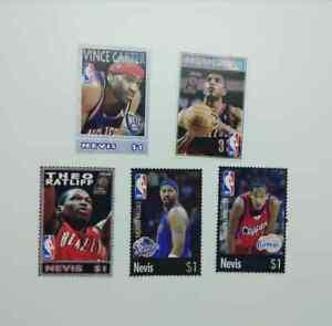 Nevis 2005 NBA basketball stars 5v mnh BP4