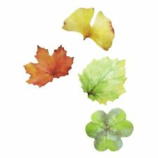 Coostyle Creative Fresh Leaf Shaped Sticky Notes, for Office And School, 4 Pads