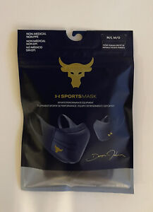 Under Armour Adult Project Rock Sport Face Mask NAVY M/L NEW Fast Shipping