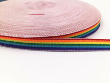 10Yards Of 1/cm0.4in Soft Polyester Air Webbing Rainbow Colours,Straps,Leads