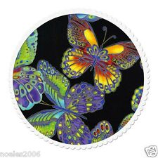Fabric by the Yard Timeless Treasures 100% Cotton Glimmer Butterflies