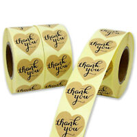 500pcs Heart thank you Stickers Cake Sealing Labels Gift Box Adhesive Sticker G1