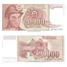 Yugoslavia 20000 Dinara 1987 P-95 Banknotes UNC