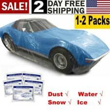 Dispoble Clear Full Car SUV Cover Outdoor UV Snow Dust Rain Resistant Protection