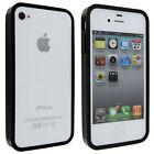 Black TPU Gummy Bumper Case for iPhone 4 / 4S