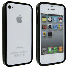 Black TPU Gummy Bumper Case for iPhone 4 / 4S