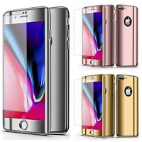 New Slim Case Mirror Plating 360° Full Coverage For Apple iPhone 7 /8 / Plus