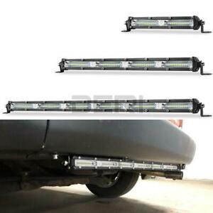 7in 13in 20in LED Work Light Bar Slim 60W 120W 180W Flood SUV Offroad Driving