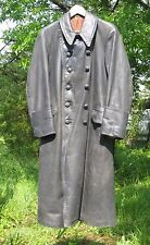 WW2 German Wehrmacht  leather  Greatcoat  sz 36 small