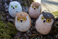 uil  ***G38-08 chouette miniature en céramique hibou owl couple