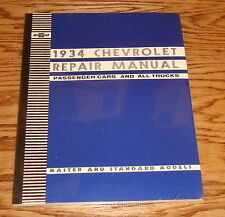 1934 Chevrolet Passenger Car & All Truck Repair Shop Service Manual 34 Chevy