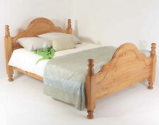 4ft6 Double Bed STRONG Frame Solid Pine Wood HIDDEN FITTINGS Classic HF