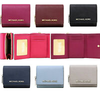 Michael Kors Jet Set Travel Small Multifunctional Zip Around Case Wallet Leather