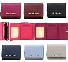 Michael Kors Jet Set Travel Small Multifunctional Zip Around Case Wallet Leather