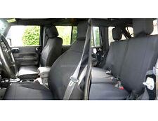 Jeep Wrangler 2007-10 Custom Neoprene FULL Set Seat Cover 2 Door Black jpyes2D