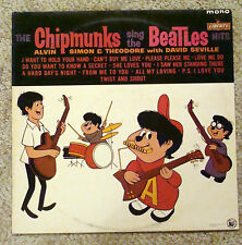 The Chipmunks Sing the Beatles LP Vinyl Record Original NM/EX MONO UK 1st Pres