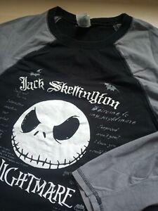 Mens Disney Store Jack Skellington Long Sleeve T Shirt Size M Medium
