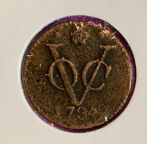 Dutch Netherlands Colonial VOC Duit Coin 1734 New York Penny