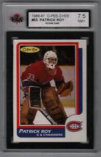 1986-87 O-Pee-Chee #53 Patrick Roy Canadiens Rookie KSA 7.5