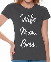Mom life shirt Wife Mom Boss T-shirt Great gifts for Mothers day Mom shirt