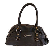 Fraulein Emma Handbag in Black Noir with Braided Double Handles