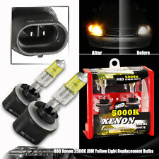 Universal 880 2500K 12V / 27W Yellow Halogen Xenon Fog Light Bulbs