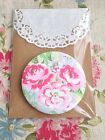 Hand Bag Fabric Pocket Mirror - 10P extra postage for each additional (U.K)